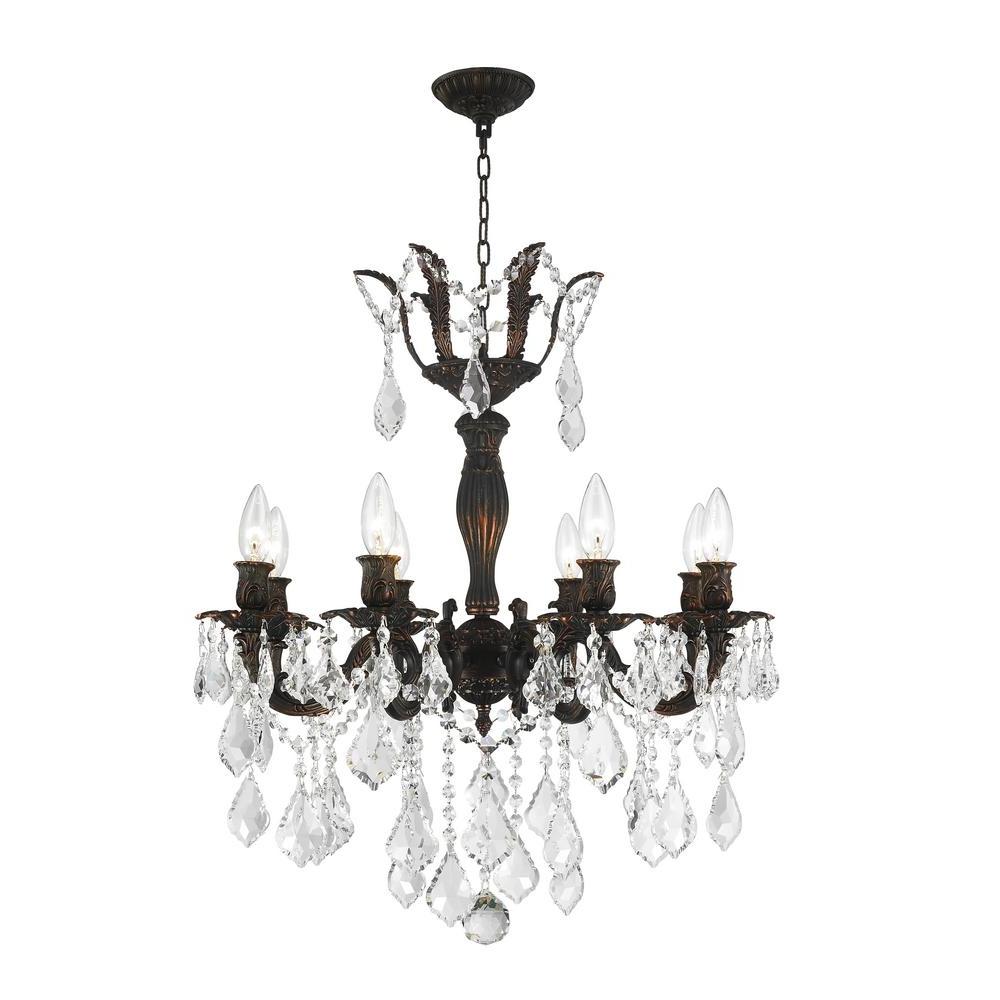 Worldwide Lighting Versailles 8 Light Flemish Brass Chandelier With Regarding 2019 Flemish Brass Chandeliers (View 4 of 20)