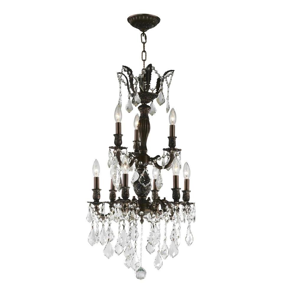 Worldwide Lighting Versailles 9 Light Flemish Brass Chandelier With Inside Most Popular Flemish Brass Chandeliers (View 8 of 20)