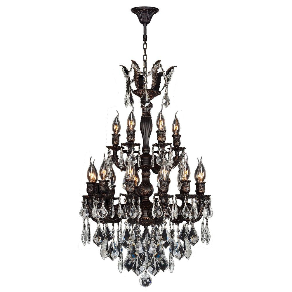 Worldwide Lighting Versailles Collection 18 Light Flemish Brass And In Well Known Flemish Brass Chandeliers (View 12 of 20)