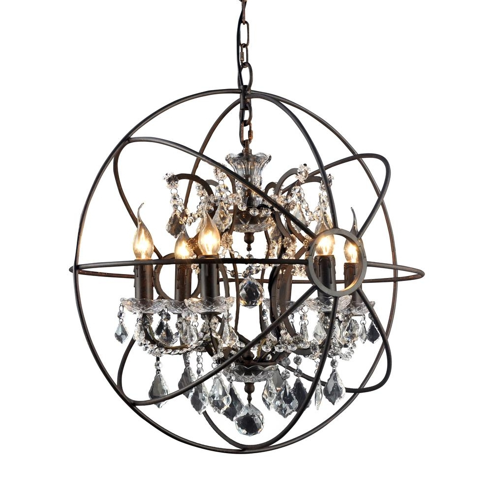 Y Decor Hannah 6 Light Rustic Black Chandelier Lz2080 6Rr – The Home Pertaining To Trendy Black Chandelier (Gallery 6 of 20)