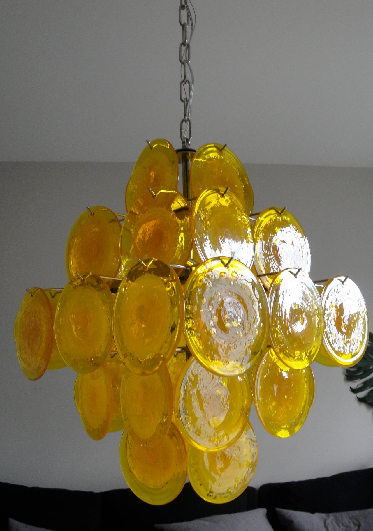 Yellow Murano Glass Chandelier At 1stdibs Regarding Latest Glass Chandelier (View 13 of 20)