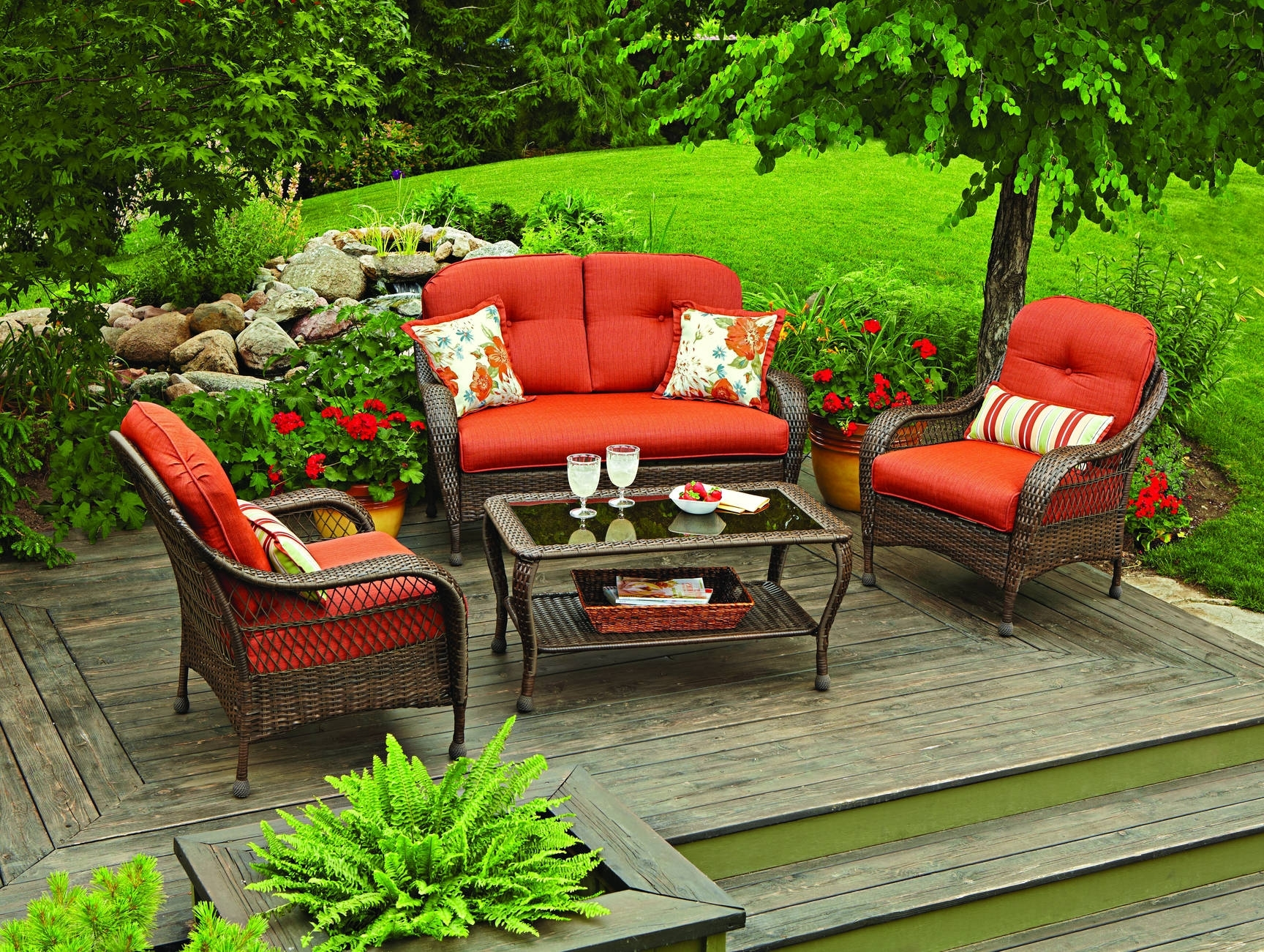 2018 4 Piece Patio Conversation Sets With Better Homes And Gardens Azalea Ridge 4 Piece Patio Conversation Set (View 9 of 20)