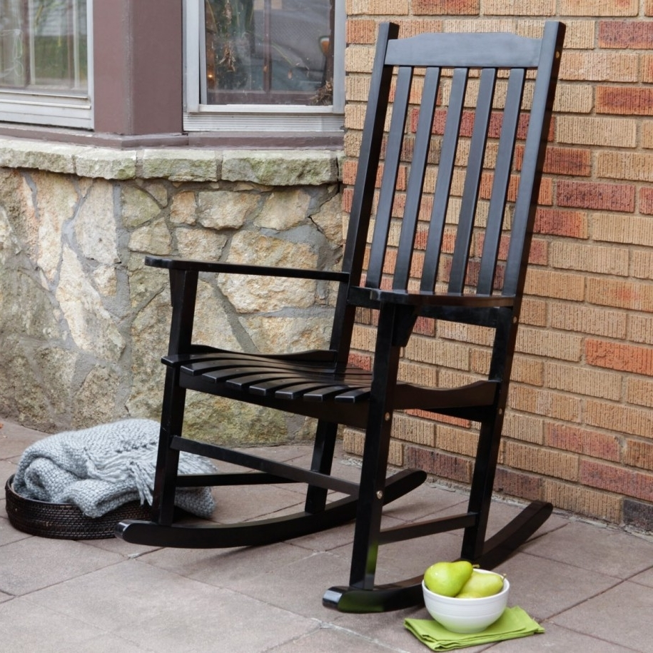 2018 Black Outdoor Rocking Chair Upholstered Rocking Chair Outdoor For Black Patio Rocking Chairs (View 1 of 20)