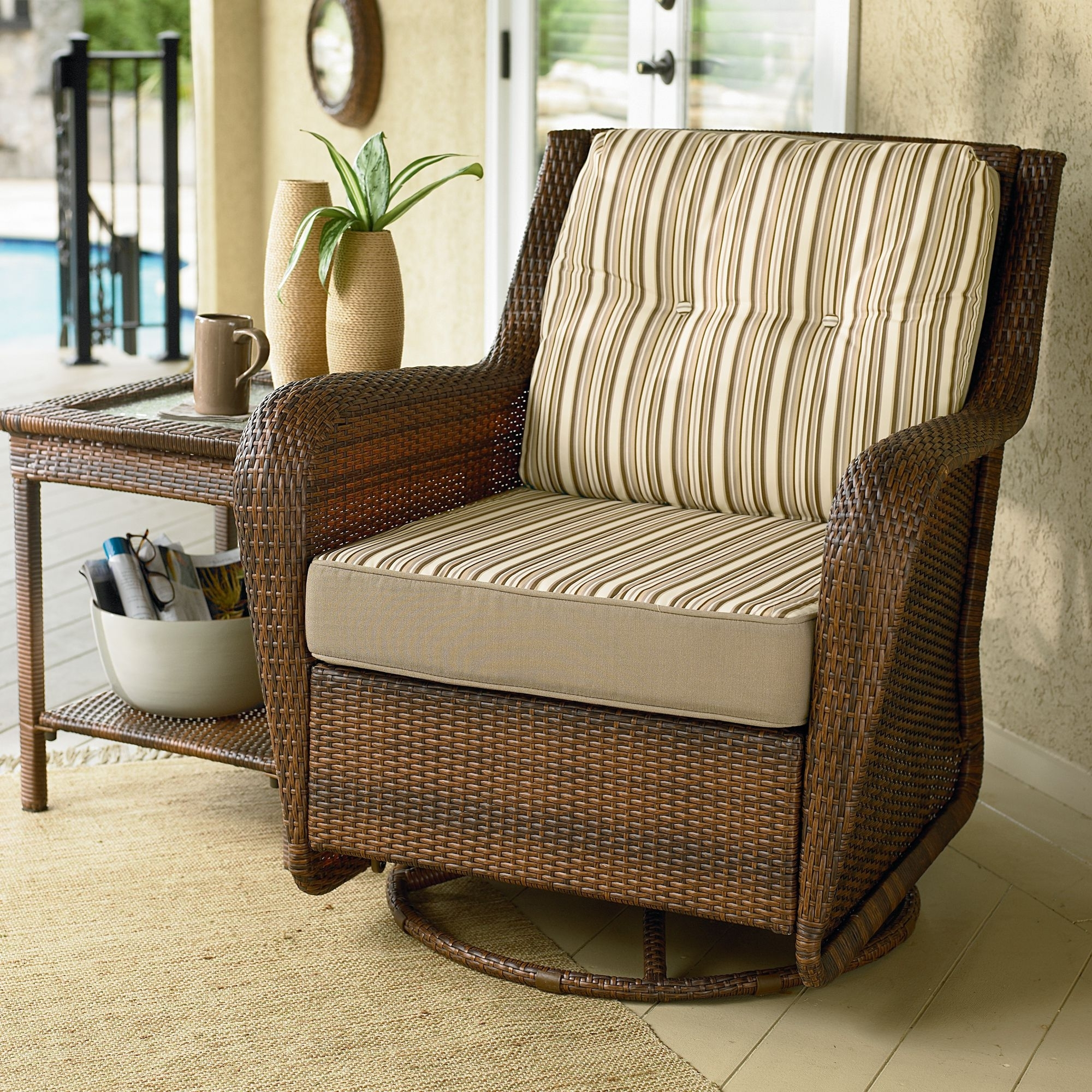 2018 Glider Patio Cushions – Decco.voiceoverservices (View 1 of 20)
