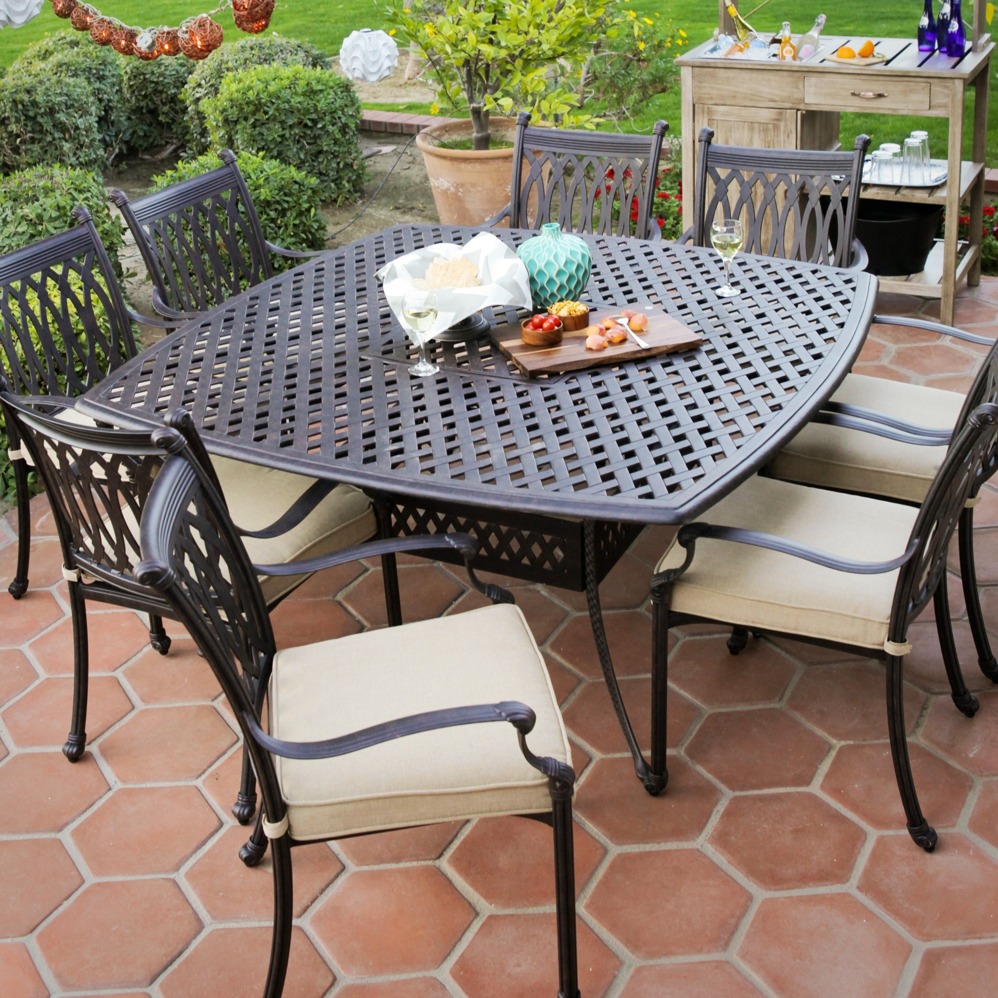 2018 Modern Patio Furniture Clearance Better Best Outdoor Dining Sets On Throughout Patio Conversation Sets With Dining Table (View 2 of 20)