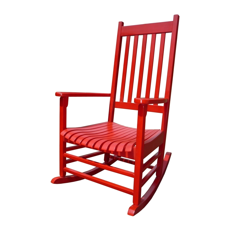 2018 Red Patio Rocking Chairs Throughout Shop International Concepts Acacia Rocking Chair With Slat Seat At (View 2 of 20)