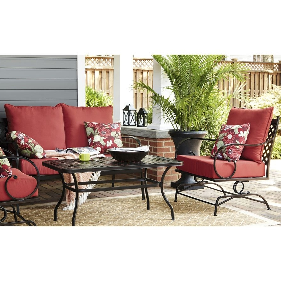2018 Shop Garden Treasures Yorkford 2 Piece Steel Patio Conversation Set For Garden Treasures Patio Conversation Sets (View 11 of 20)