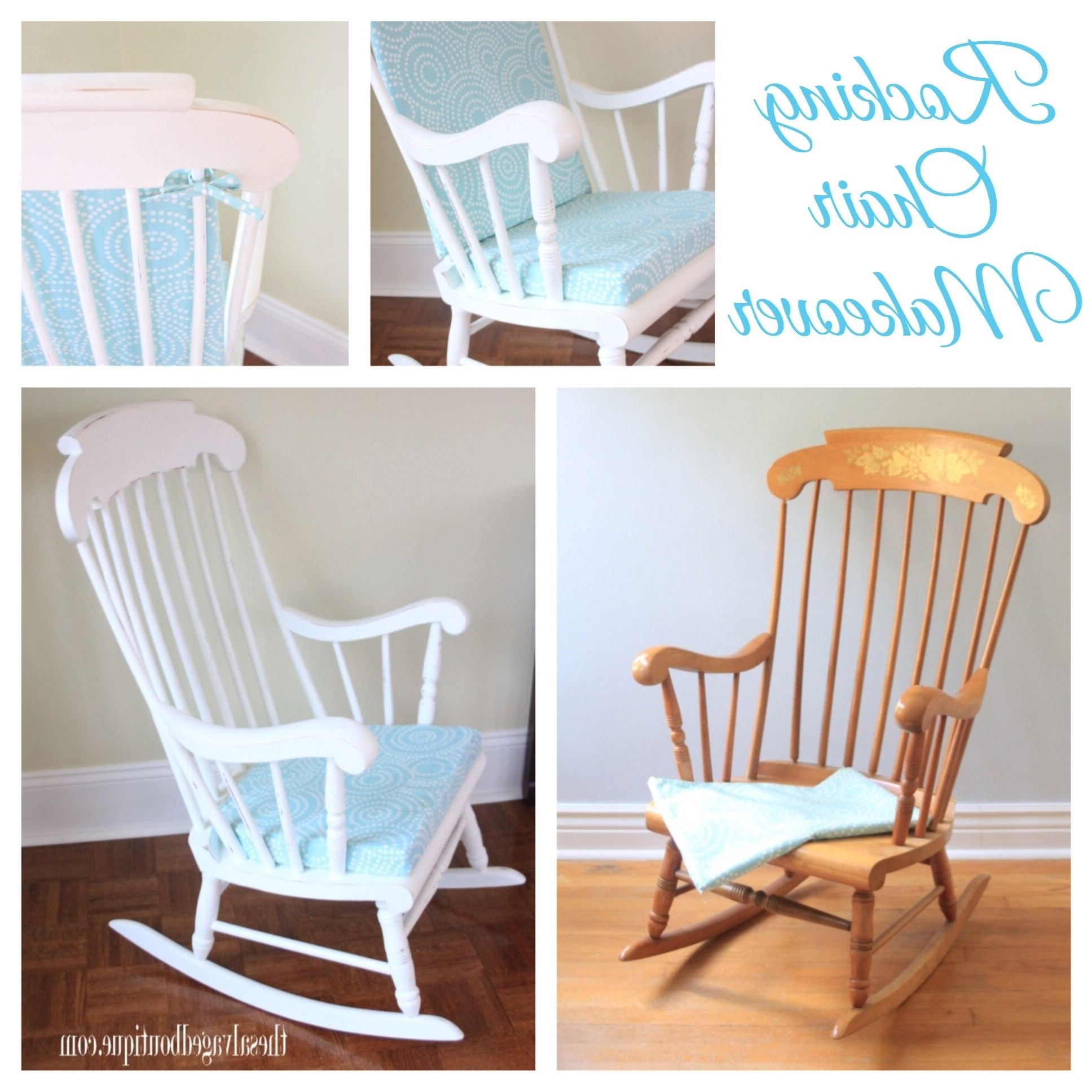 2018 Vintage Rocking Chair Makeover For A Baby Nursery (View 1 of 20)