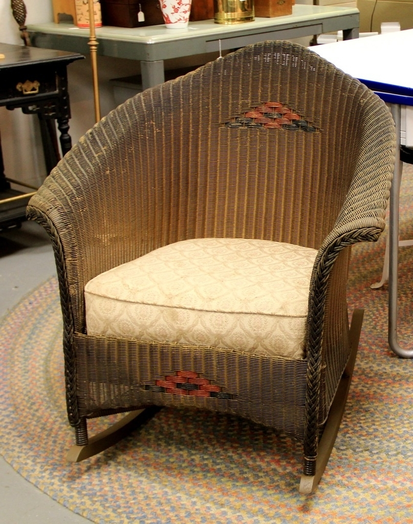 2018 Vintage Wicker Rocking Chair Ideas Furniture Decor Trend All Antique With Antique Wicker Rocking Chairs With Springs (View 1 of 20)