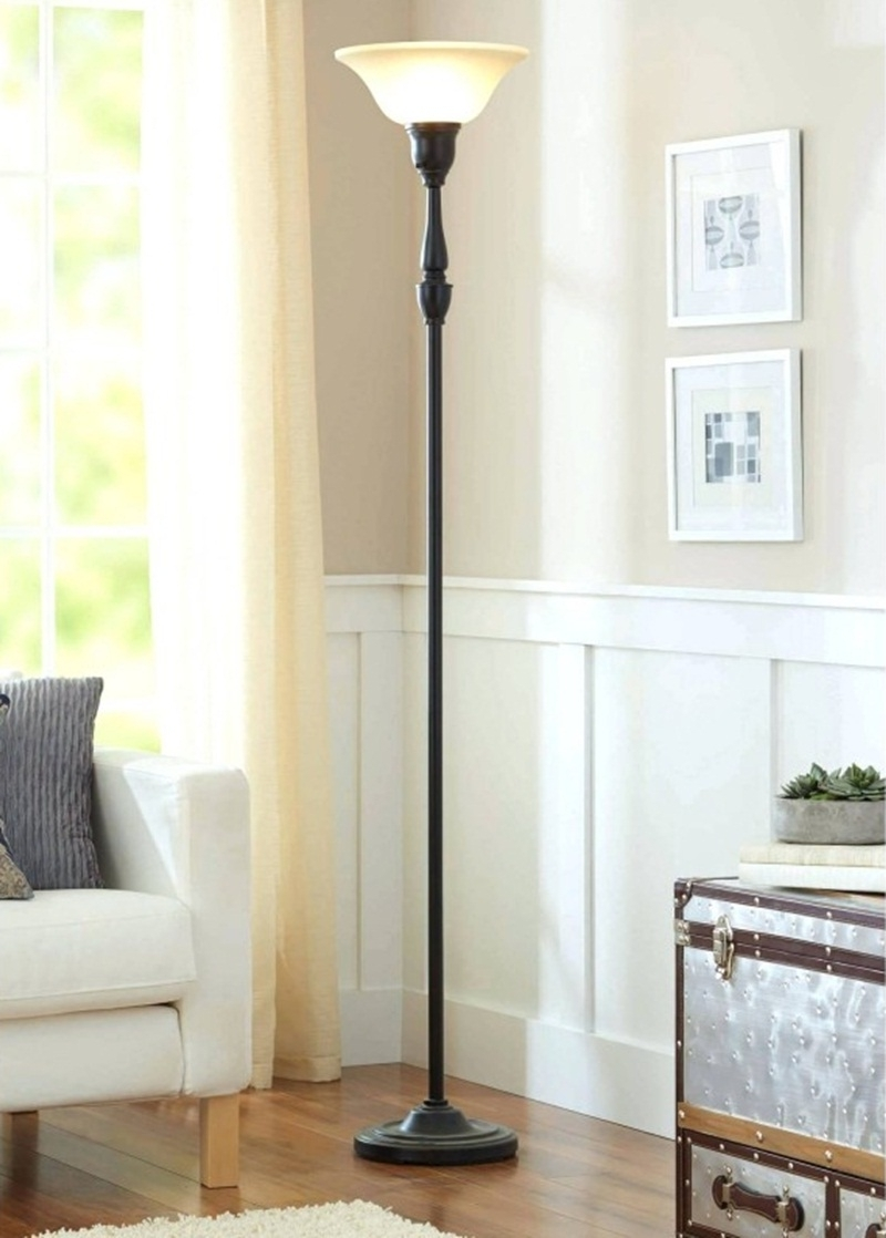 2018 Wayfair Living Room Table Lamps Throughout Lamps: Beautiful Walmart Pole Lamps For Home Decor — Foamthai (View 17 of 20)
