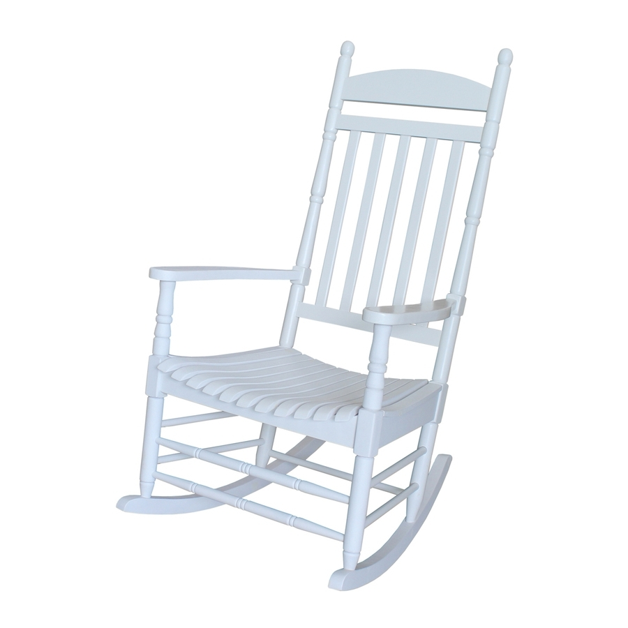 2018 White Patio Rocking Chairs Inside Shop International Concepts Acacia Rocking Chair With Slat Seat At (View 1 of 20)