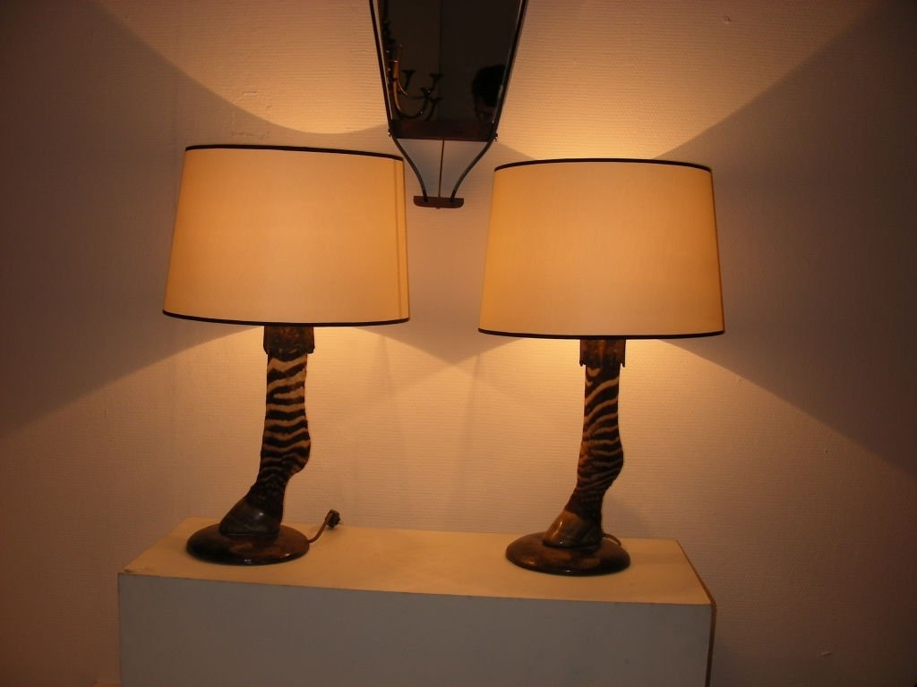 2019 Astonishing Zebra Pair Of Lamp At Bathroom Dining Room Table Lamps With Living Room Table Lamps At Home Depot (View 10 of 20)