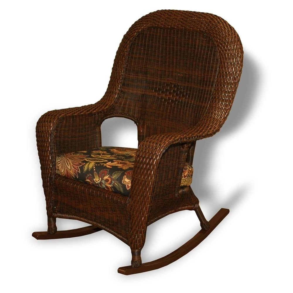 2019 Brown Wicker Patio Rocking Chairs Intended For Tortuga Outdoor Lexington Wicker Rocker – Wicker (View 1 of 20)