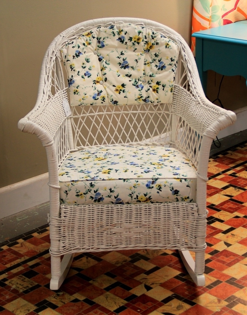 2019 Found In Ithaca Vintage Wicker Rocker Sold Antique Rocking Chair With Regard To Vintage Wicker Rocking Chairs (View 3 of 20)
