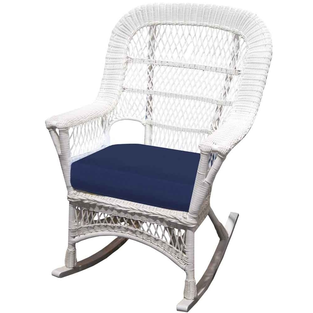 2019 Front Porch Furniture // Wicker – Wicker Throughout White Patio Rocking Chairs (View 2 of 20)