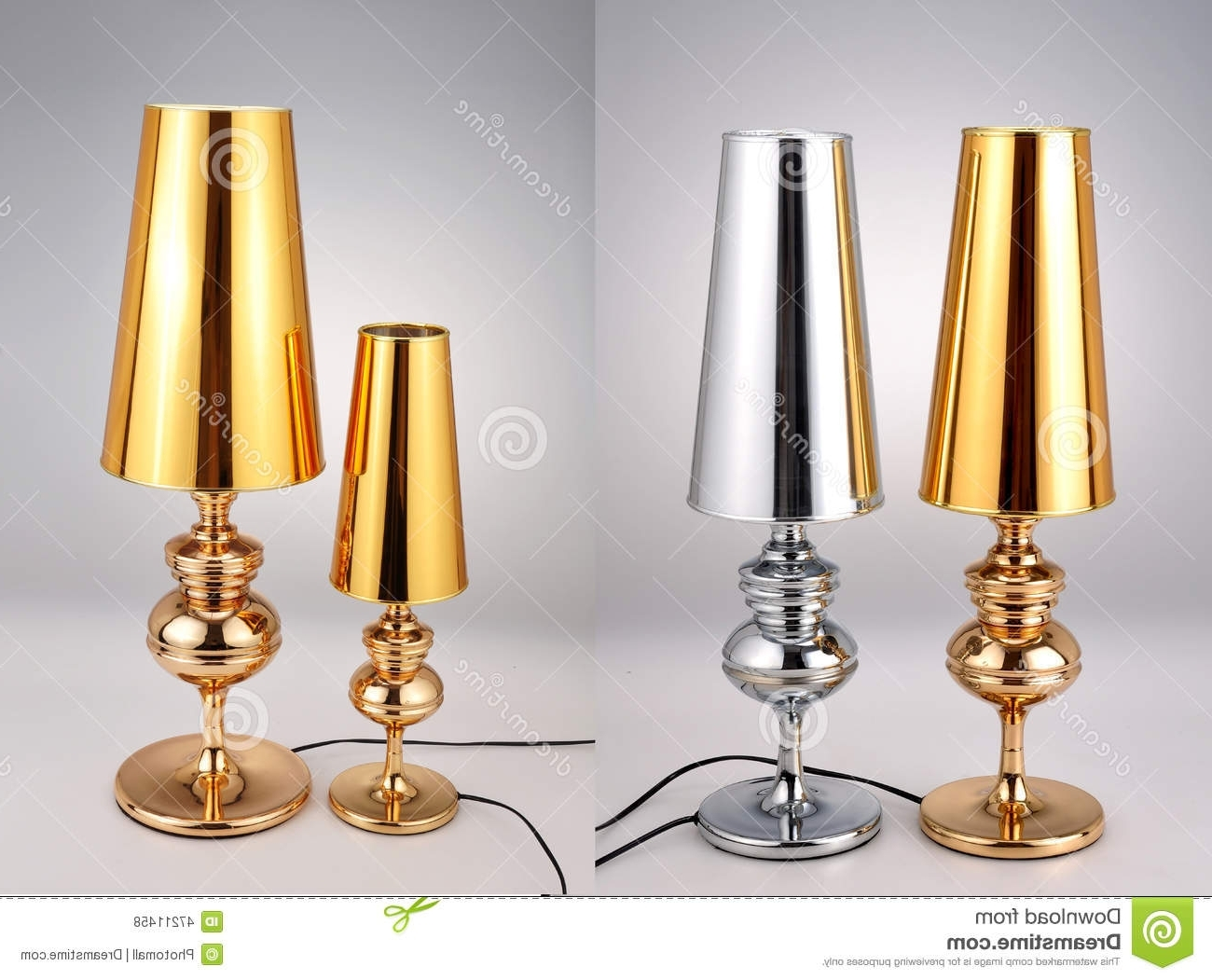 2019 Golden And Silver Table Lamps,luxury Table Lights Stock Photo With Gold Living Room Table Lamps (View 1 of 20)
