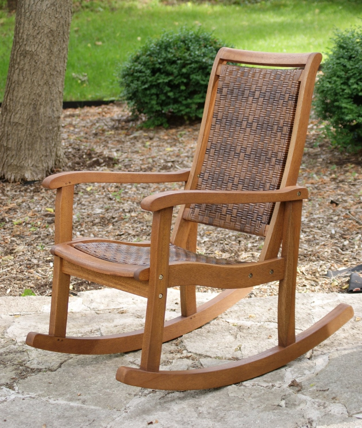 2019 Great Rocking Patio Chairs Outdoor Wicker Rocking Chairs Patio In Outdoor Vinyl Rocking Chairs (View 7 of 20)