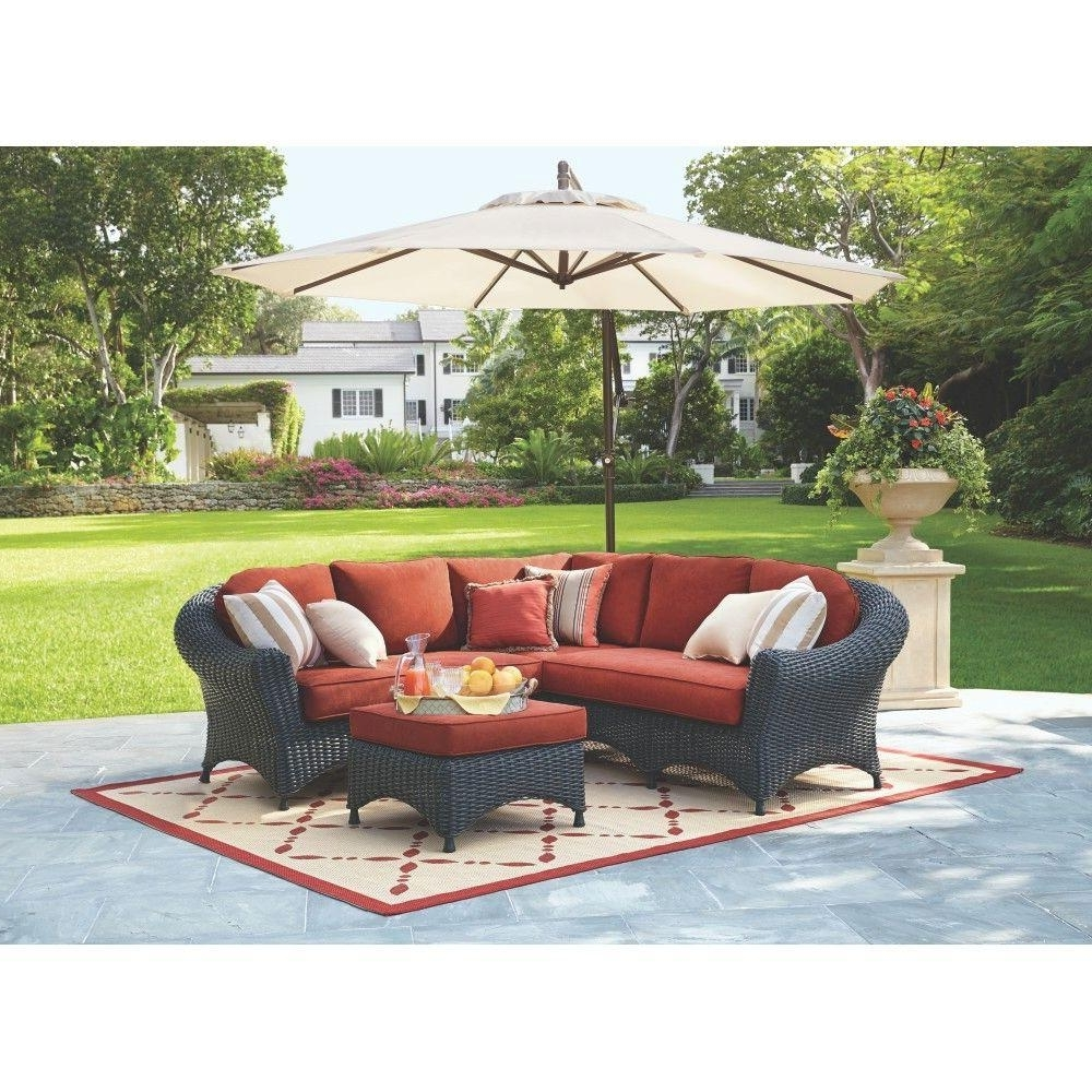 2019 Martha Stewart Conversation Patio Sets For Martha Stewart Living Lake Adela 4 Piece Charcoal All Weather Wicker (View 7 of 20)