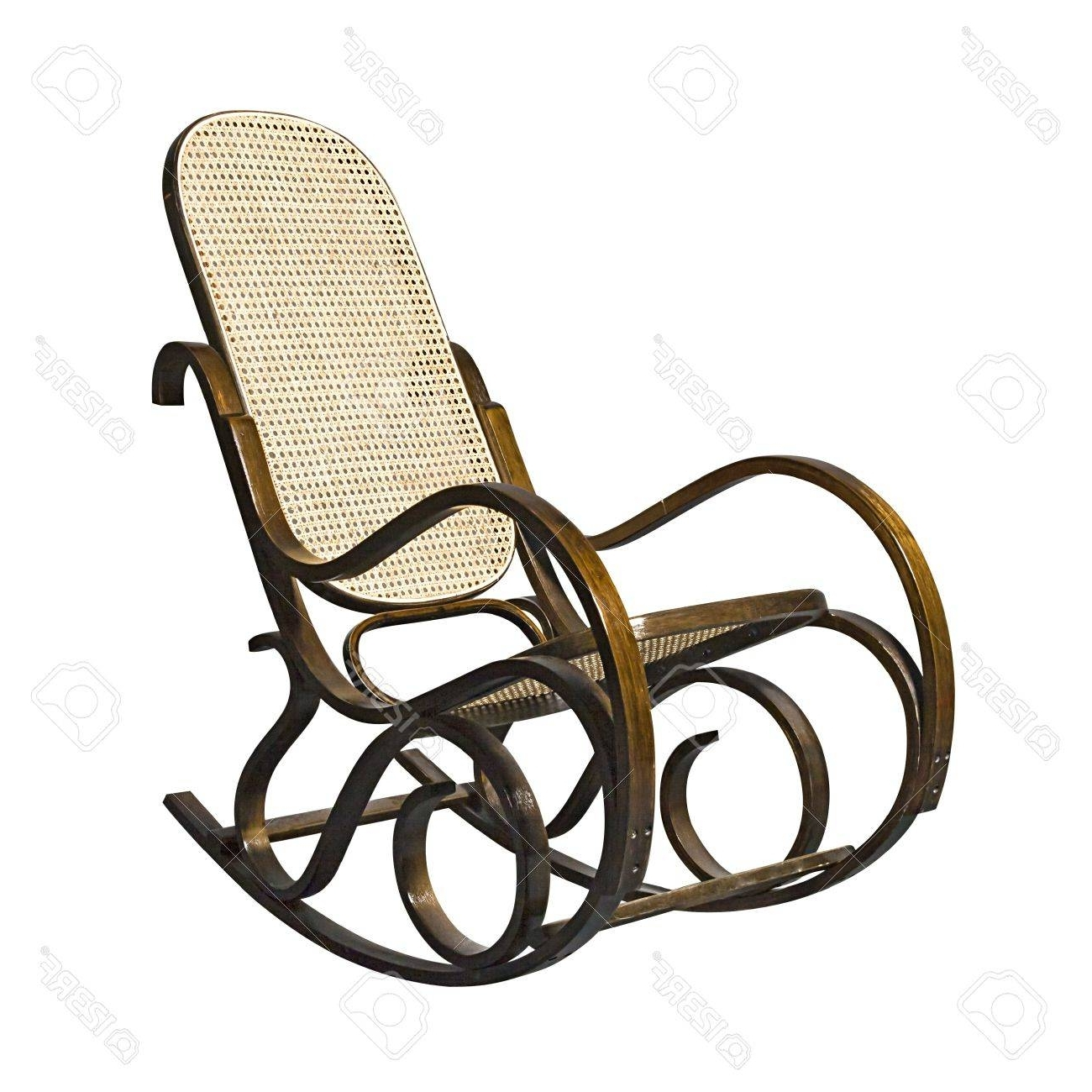 2019 Old Fashioned Rocking Chair Isolated Over White Stock Photo, Picture Regarding Old Fashioned Rocking Chairs (View 1 of 20)