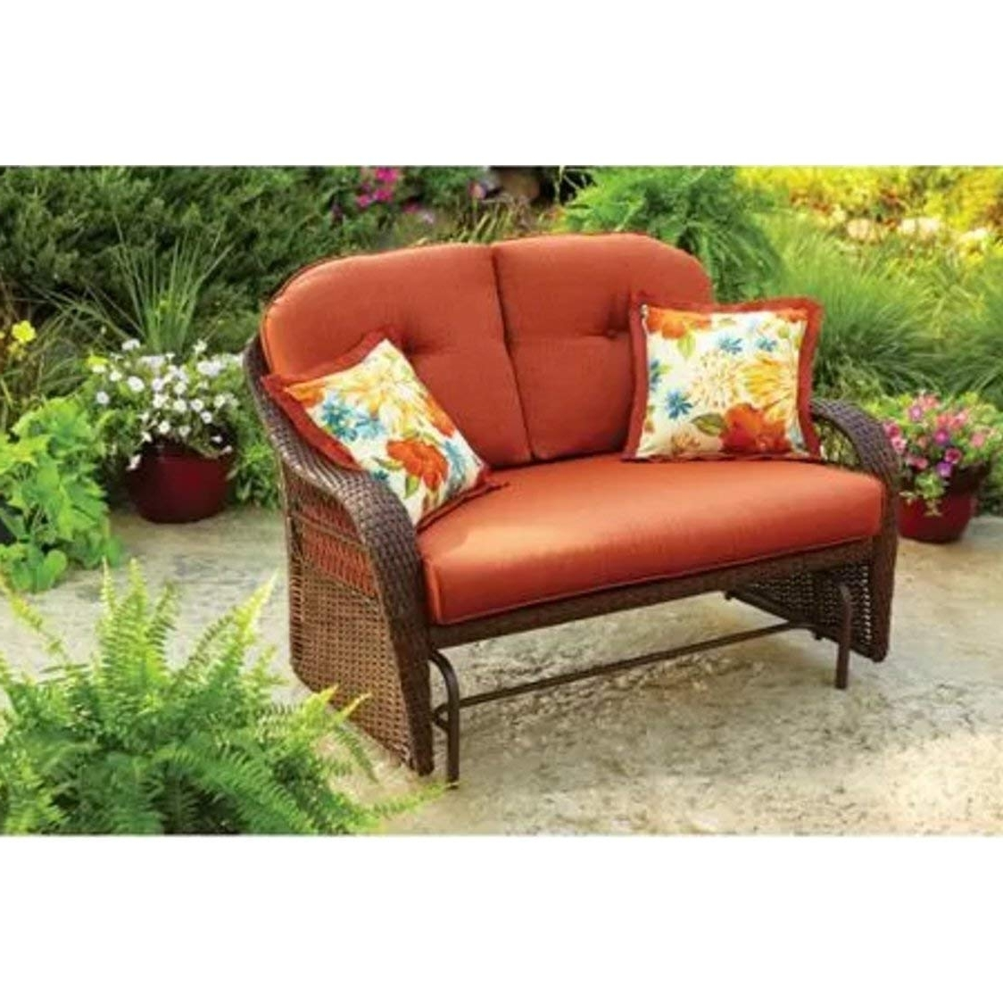 2019 Patio Conversation Sets With Glider Inside Outdoor Patio Glider Better Homes And Gardens Garden Furniture (View 2 of 20)