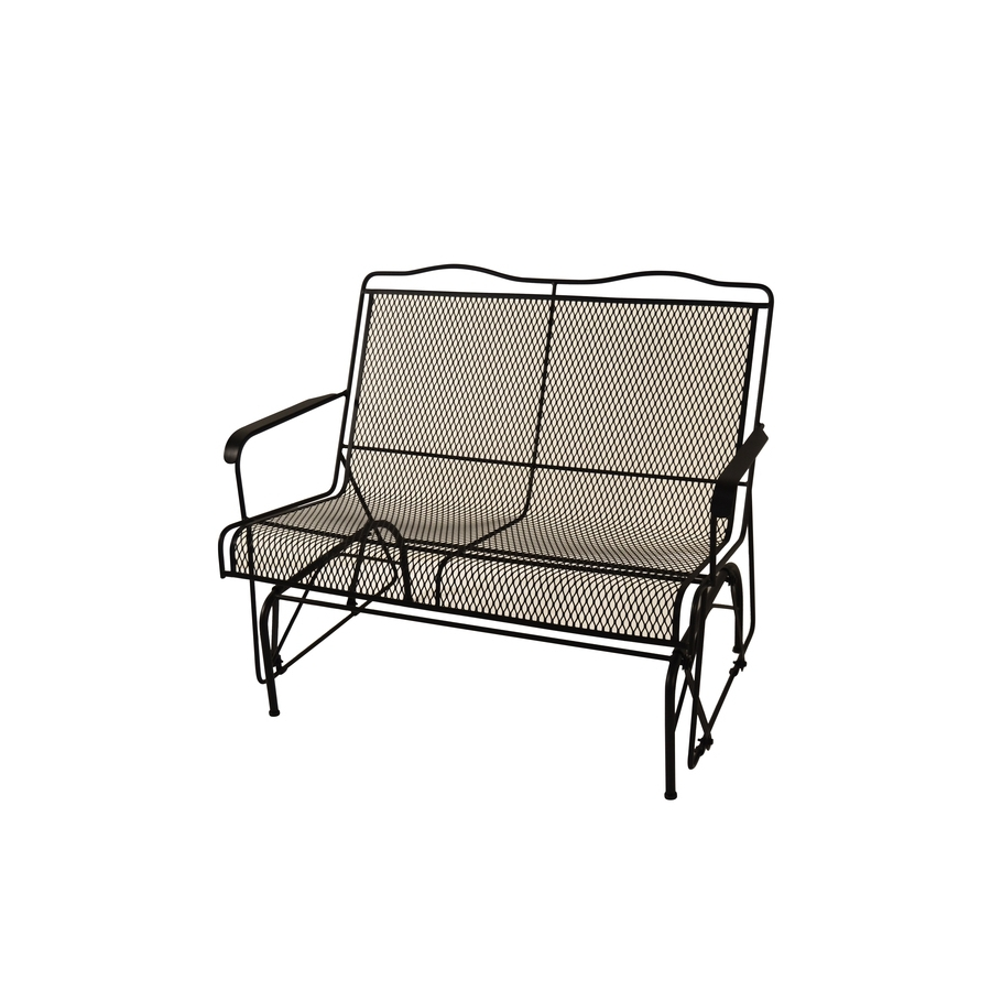 2019 Shop Davenport Black Wrought Iron Patio Rocking Chair At Ikea Black Inside Wrought Iron Patio Rocking Chairs (View 1 of 20)