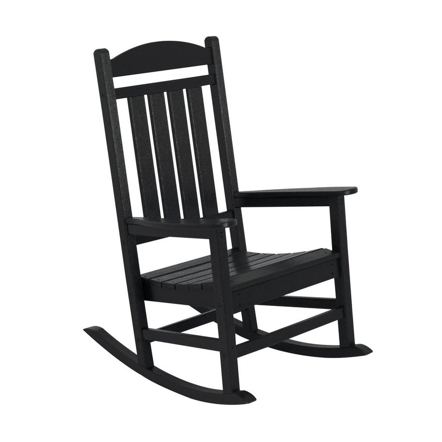 2019 Shop Polywood Presidential Black Plastic Patio Rocking Black And Regarding Plastic Patio Rocking Chairs (View 9 of 20)