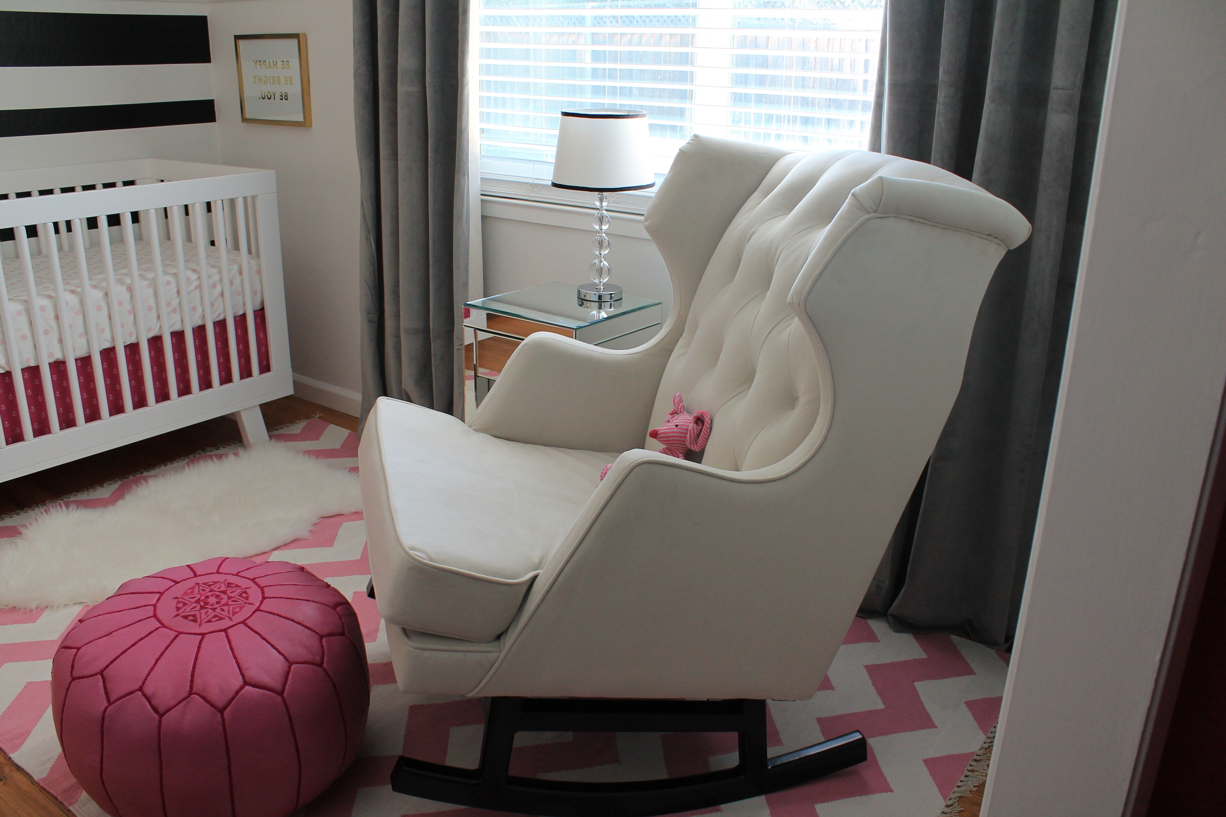 2019 White Wicker Rocking Chair For Nursery With Regard To Living Room Furniture : Rocking Chairs For Baby Nursery Wooden (View 16 of 20)