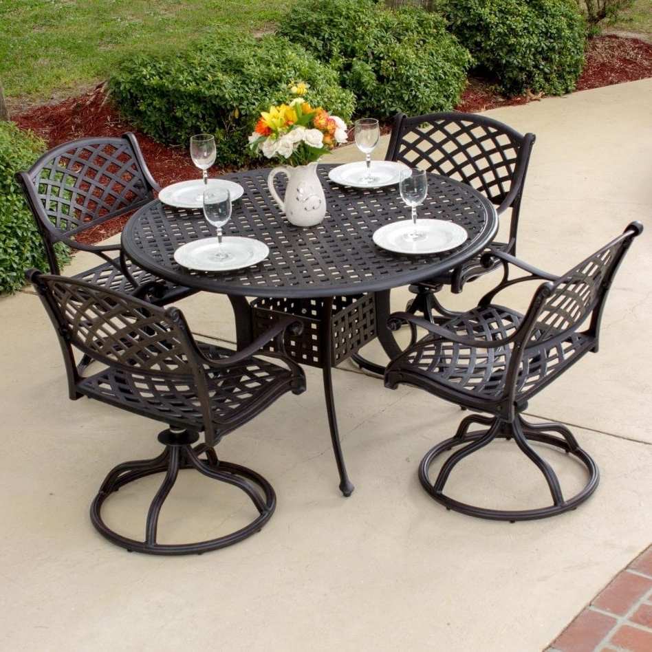 30 The Best Wrought Iron Patio Furniture 1950's Concept Pertaining To 2018 Wrought Iron Patio Rocking Chairs (View 2 of 20)