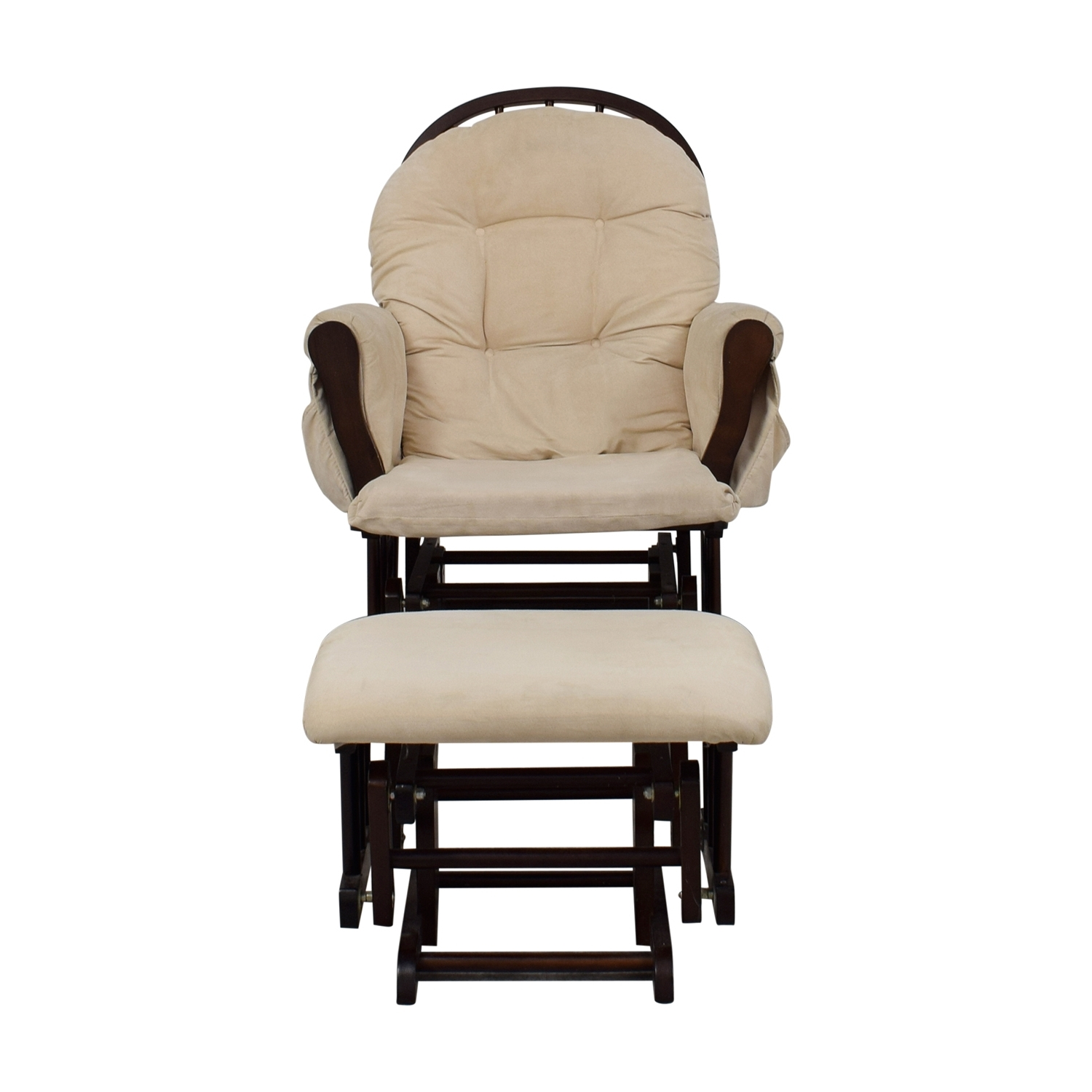 [%44% Off – Beige And Wood Rocking Chair With Ottoman / Chairs Pertaining To Well Known Rocking Chairs With Ottoman|rocking Chairs With Ottoman For Most Current 44% Off – Beige And Wood Rocking Chair With Ottoman / Chairs|most Recently Released Rocking Chairs With Ottoman Pertaining To 44% Off – Beige And Wood Rocking Chair With Ottoman / Chairs|most Current 44% Off – Beige And Wood Rocking Chair With Ottoman / Chairs Pertaining To Rocking Chairs With Ottoman%] (View 12 of 20)