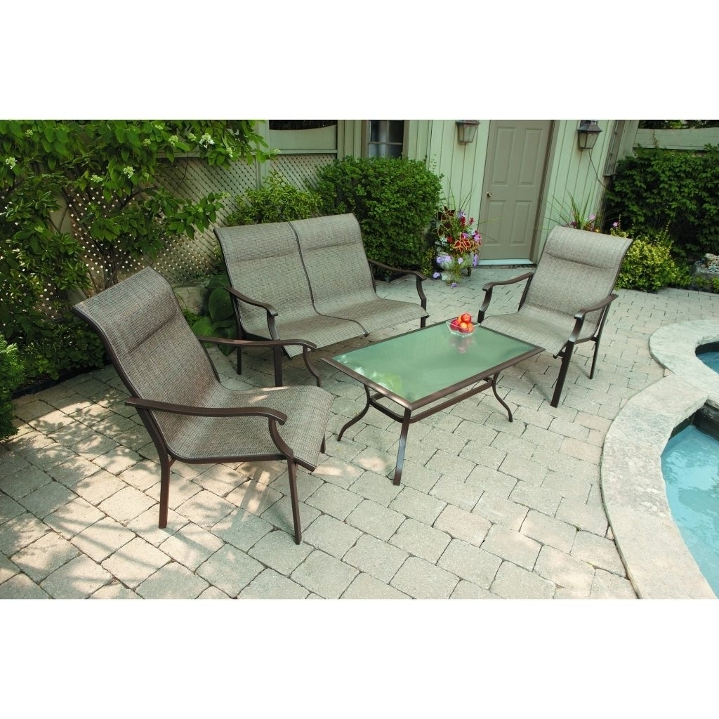 46 Patio Conversation Sets Under 300, Patio Conversation Set 4 Piece Inside Newest Patio Conversation Sets Under $ (View 5 of 20)