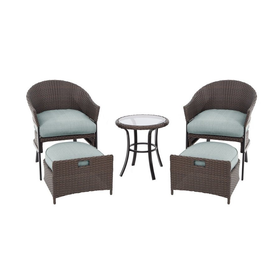 5 Piece Patio Conversation Sets Intended For 2018 Shop Garden Treasures 5 Piece South Point Brown/tan Steel Patio (View 3 of 20)