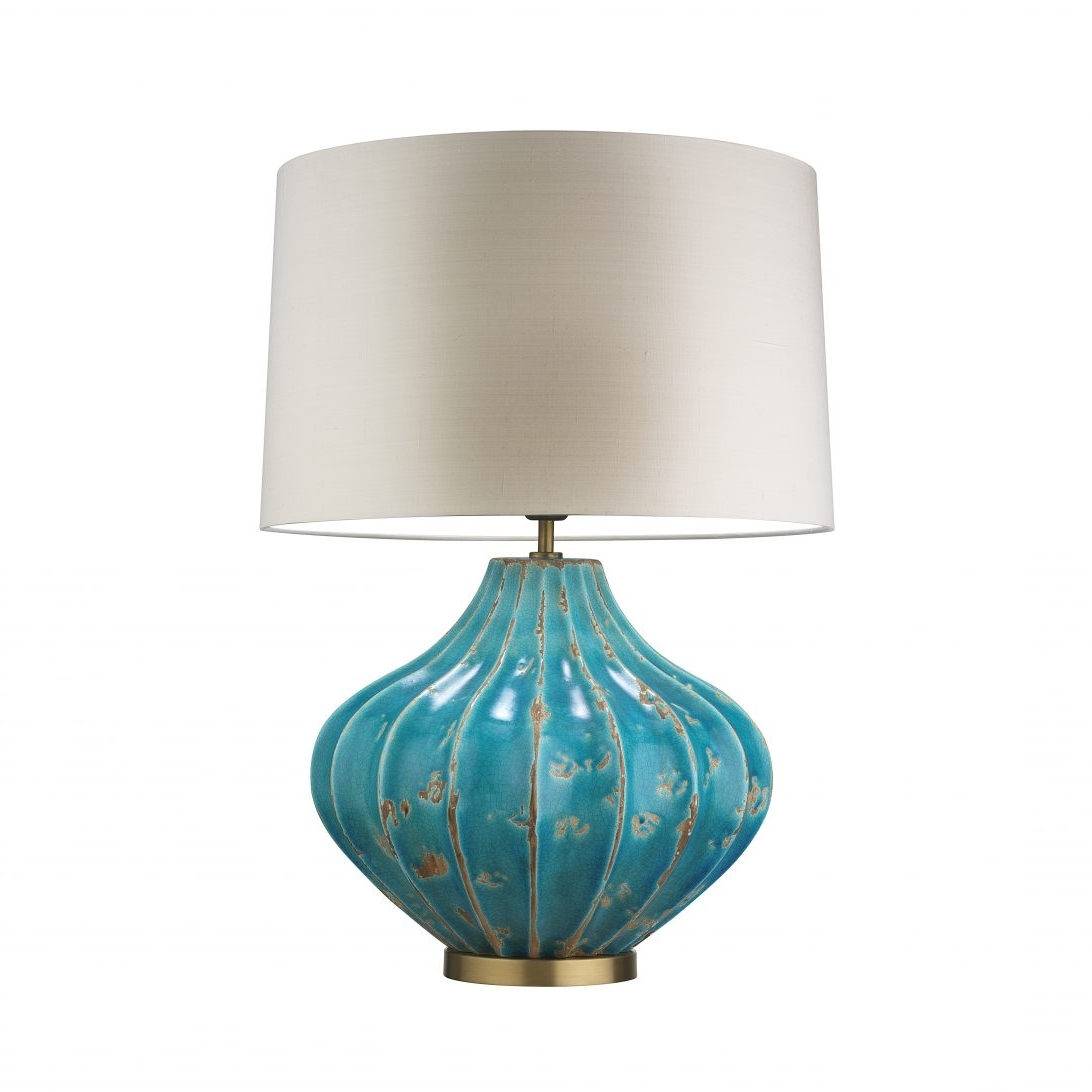 62 Most First Class Cheap Table Lamps Glass For Bedroom Silver Regarding Most Popular Teal Living Room Table Lamps (View 1 of 20)
