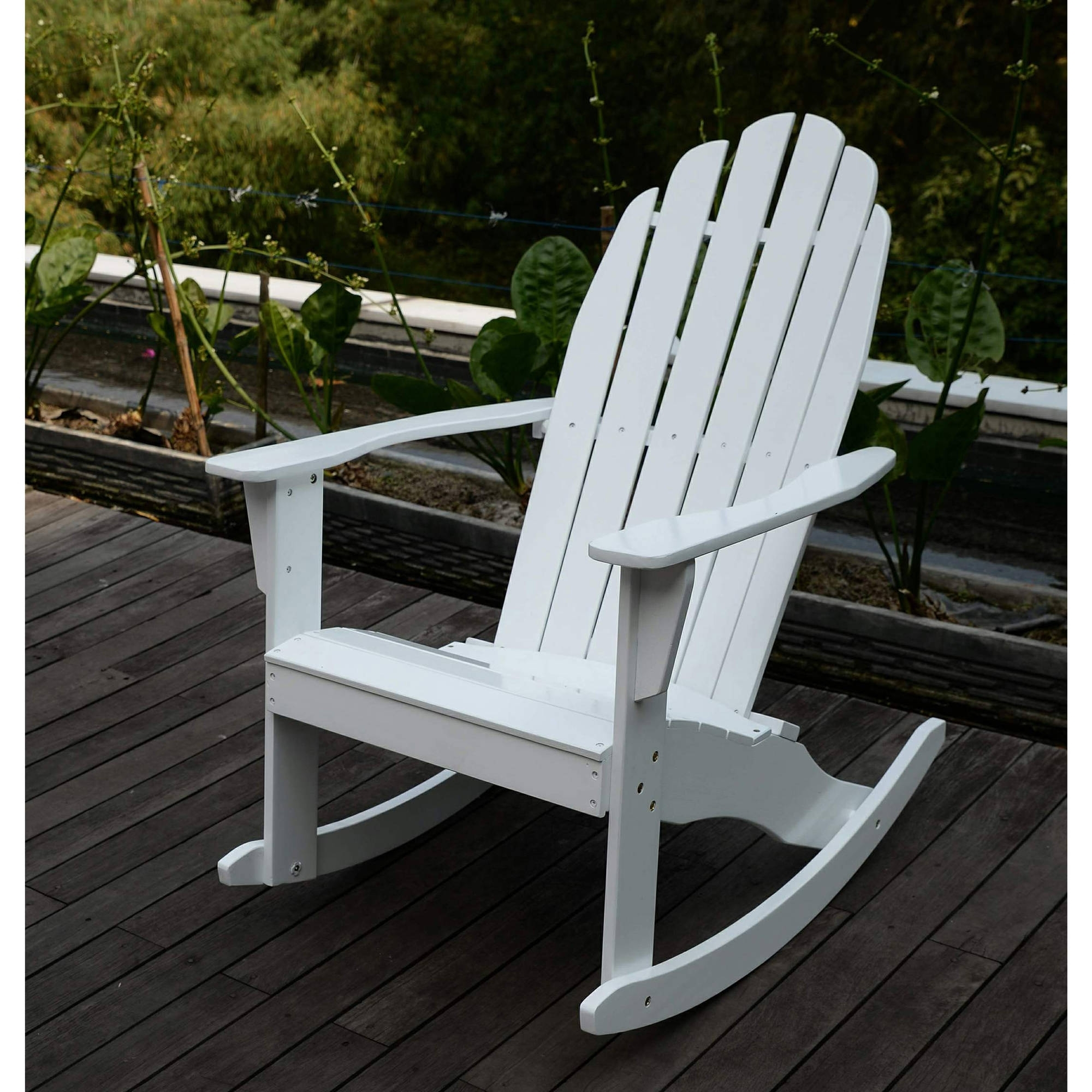 Adirondack Rocking Chair, White – Walmart In 2019 Walmart Rocking Chairs (Gallery 12 of 20)