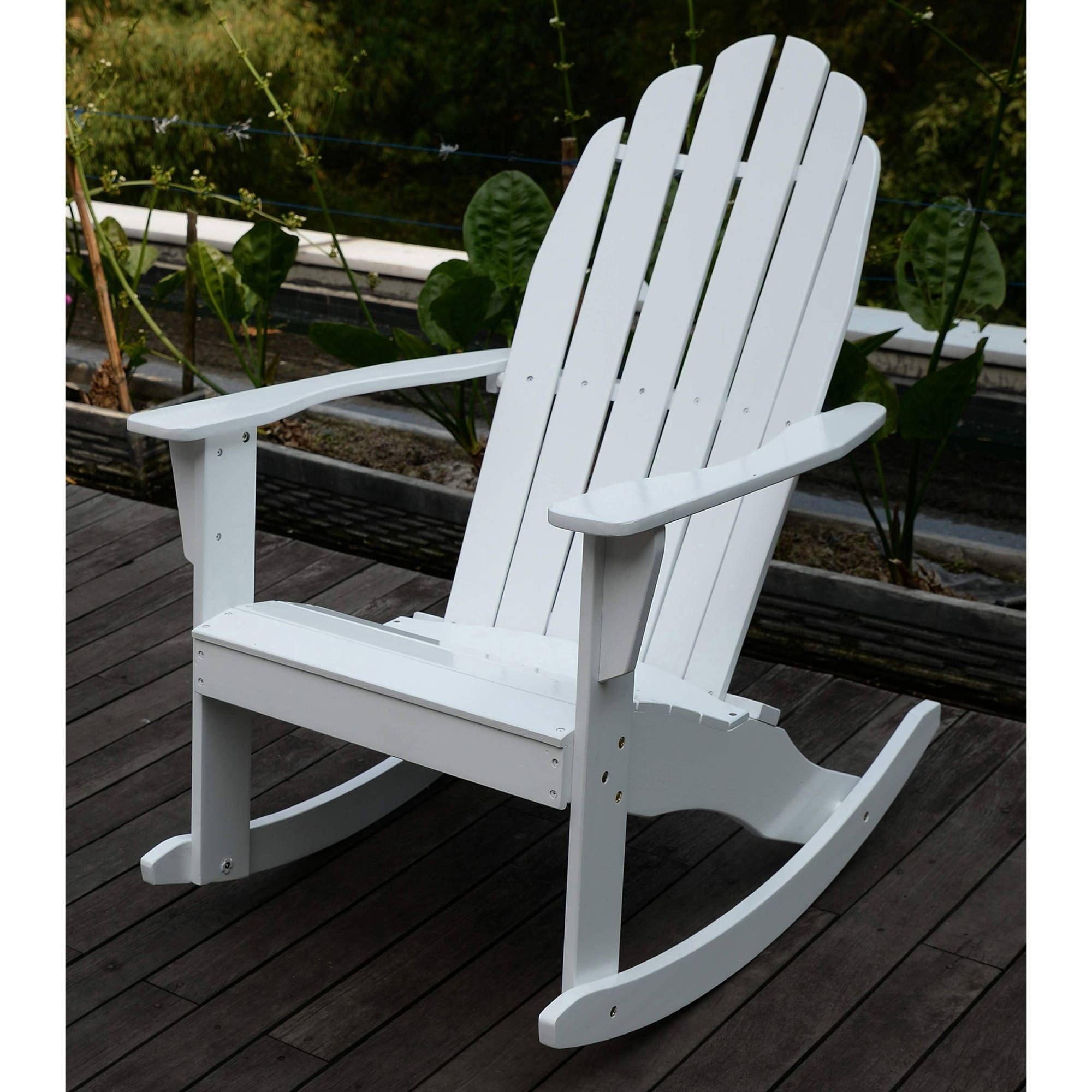 Adirondack Rocking Chair, White – Walmart Throughout Most Up To Date Rocking Chairs At Walmart (Gallery 5 of 20)