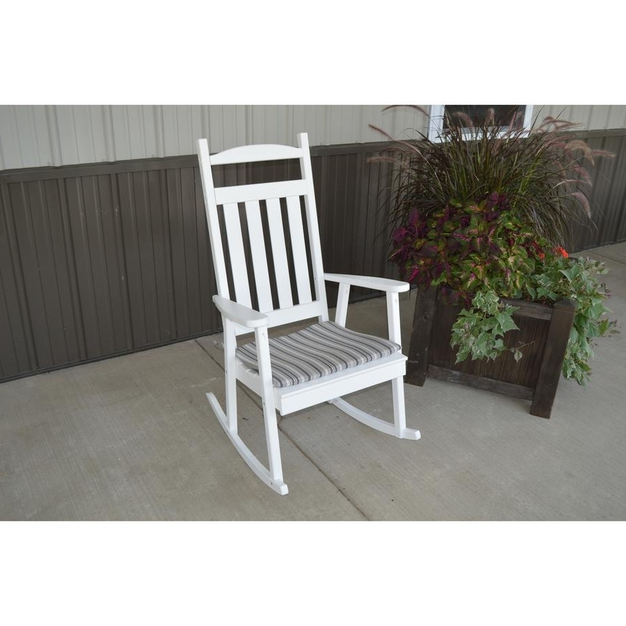 A&l Furniture Co. Outdoor Yellow Pine Classic Rocking Chair In Well Known Yellow Outdoor Rocking Chairs (Gallery 9 of 20)