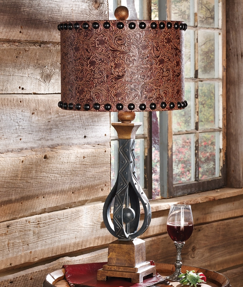 Amazing Design Western Table Lamps Living Room Rustic Wrought Iron Inside Widely Used Western Table Lamps For Living Room (View 2 of 20)