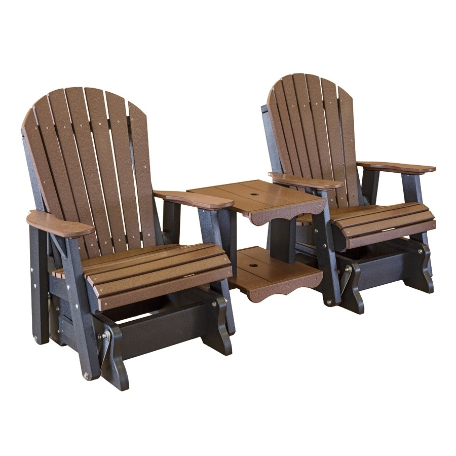 Amish Heritage Poly Double Glider Settee Inside Most Recently Released Patio Conversation Sets With Glider (View 3 of 20)