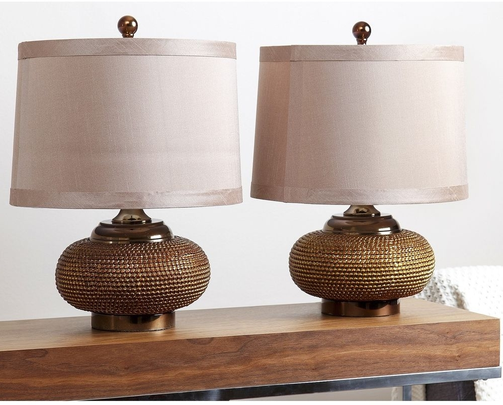 Antique Living Room Table Lamps Regarding Newest Modern Table Lamp Set Of 2 Fabric Shades Gold Antique, Living Room (View 16 of 20)