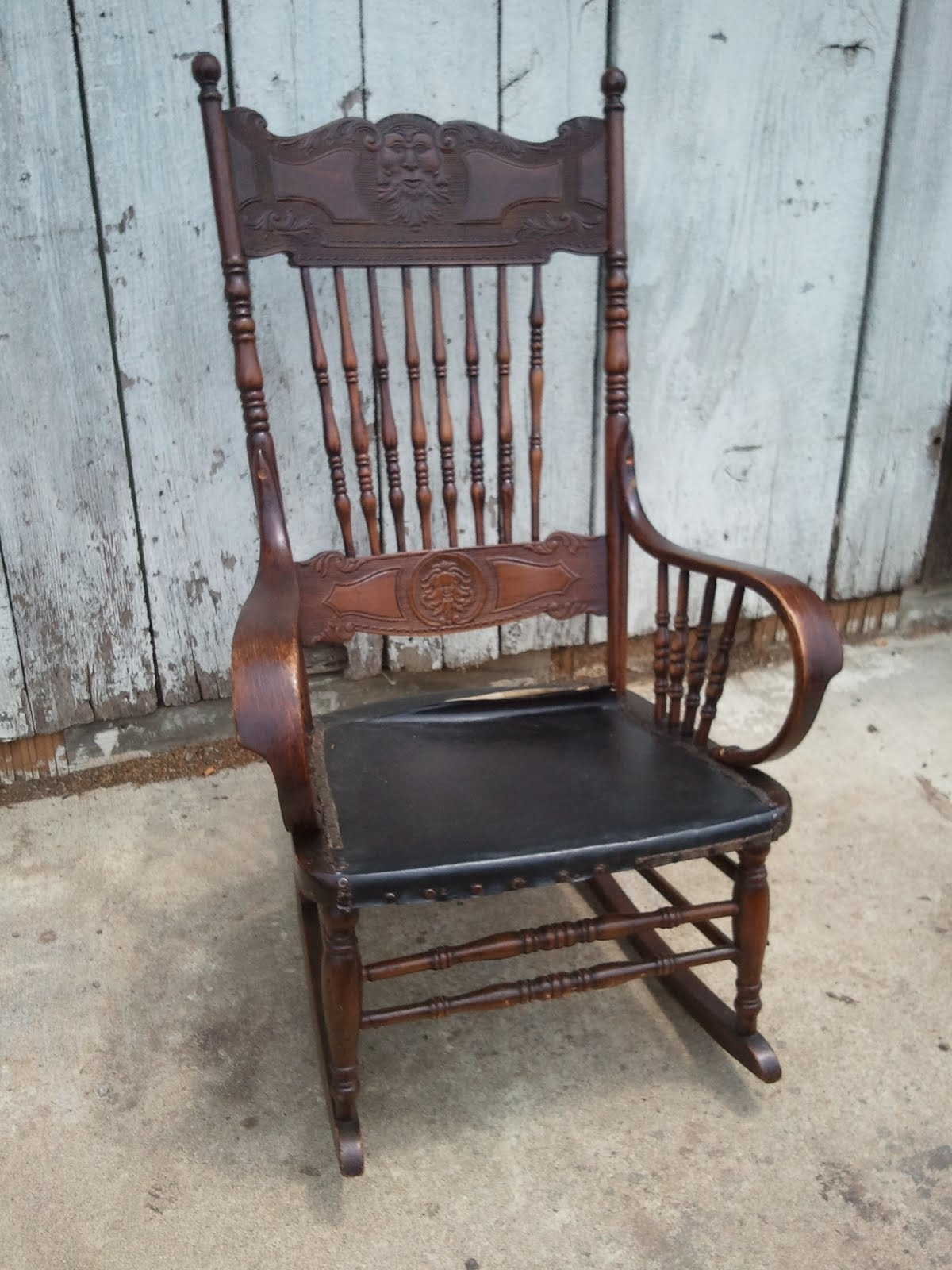 Antique Rocking Chairs Pertaining To Newest John Mark Power, Antiques Conservator: Pressed Back Rocking Chair (View 8 of 20)