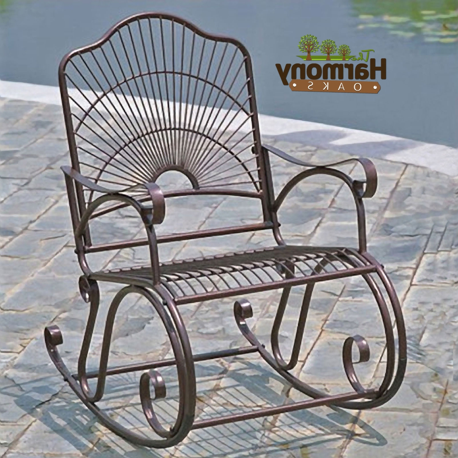 Astounding Metal Patio Rocking Chairs Fresh Home Security Throughout Popular Wrought Iron Patio Rocking Chairs (Gallery 1 of 20)