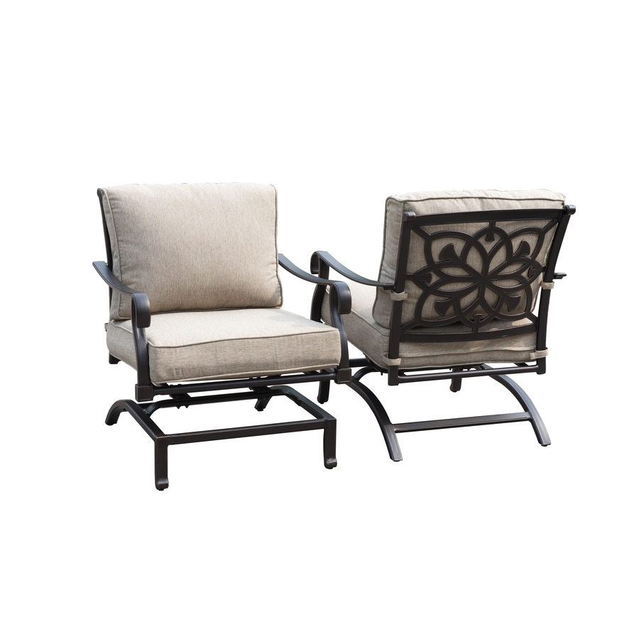 Authentic Outdoor Furniture Swivel Rocking Chairs Patio Aluminium Pertaining To Preferred Rocking Chairs For Patio (Gallery 17 of 20)