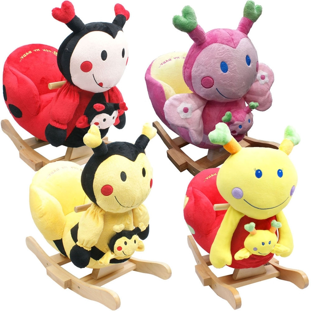 Baby Rocker Rocking Chair Toy Toddler Animal Soft Cuddly Musical For Most Current Rocking Chairs For Babies (View 4 of 20)