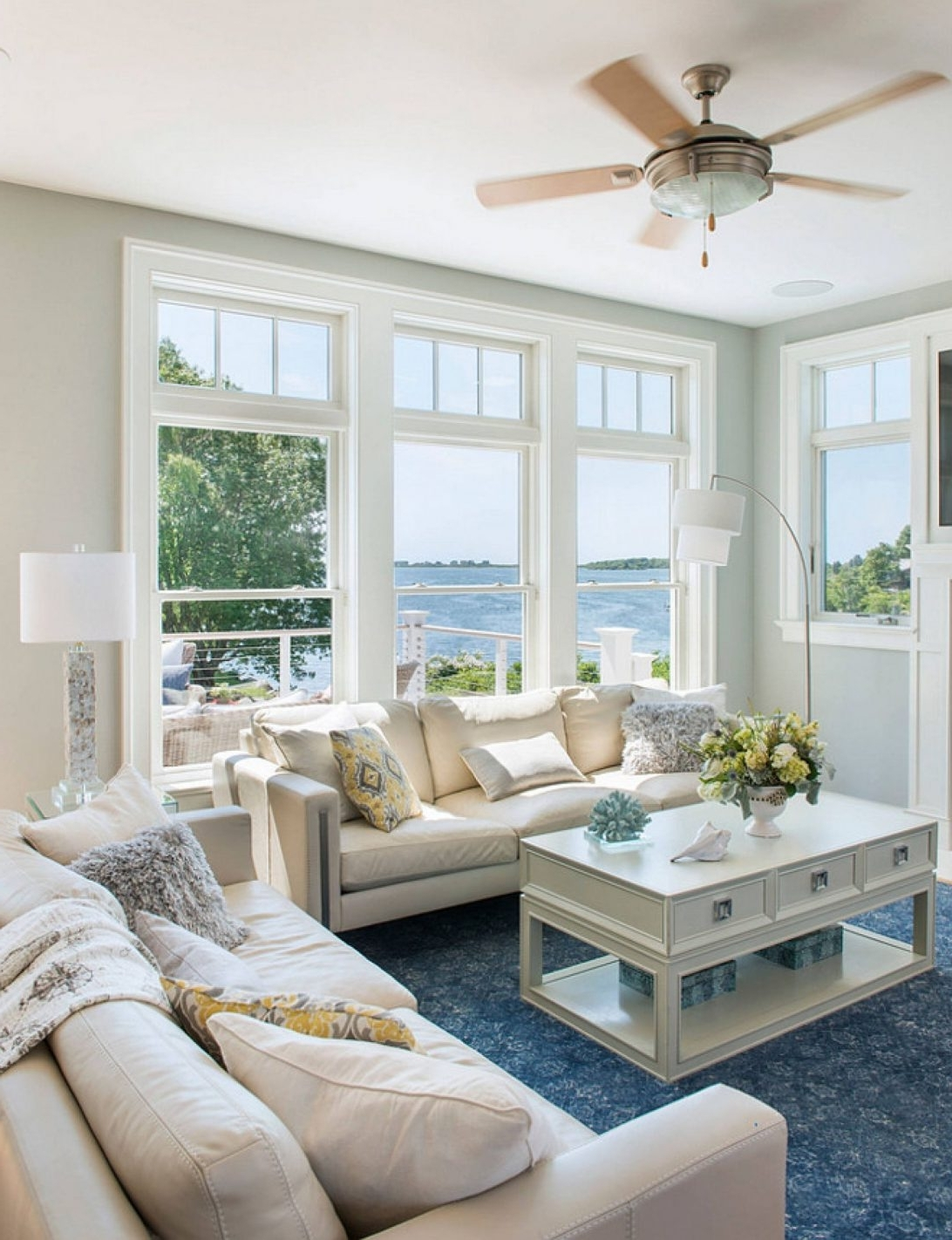 Beach Themed Floor Lamps Unique Nautical Coastal Living Room Ideas With Well Known Coastal Living Room Table Lamps (View 2 of 20)
