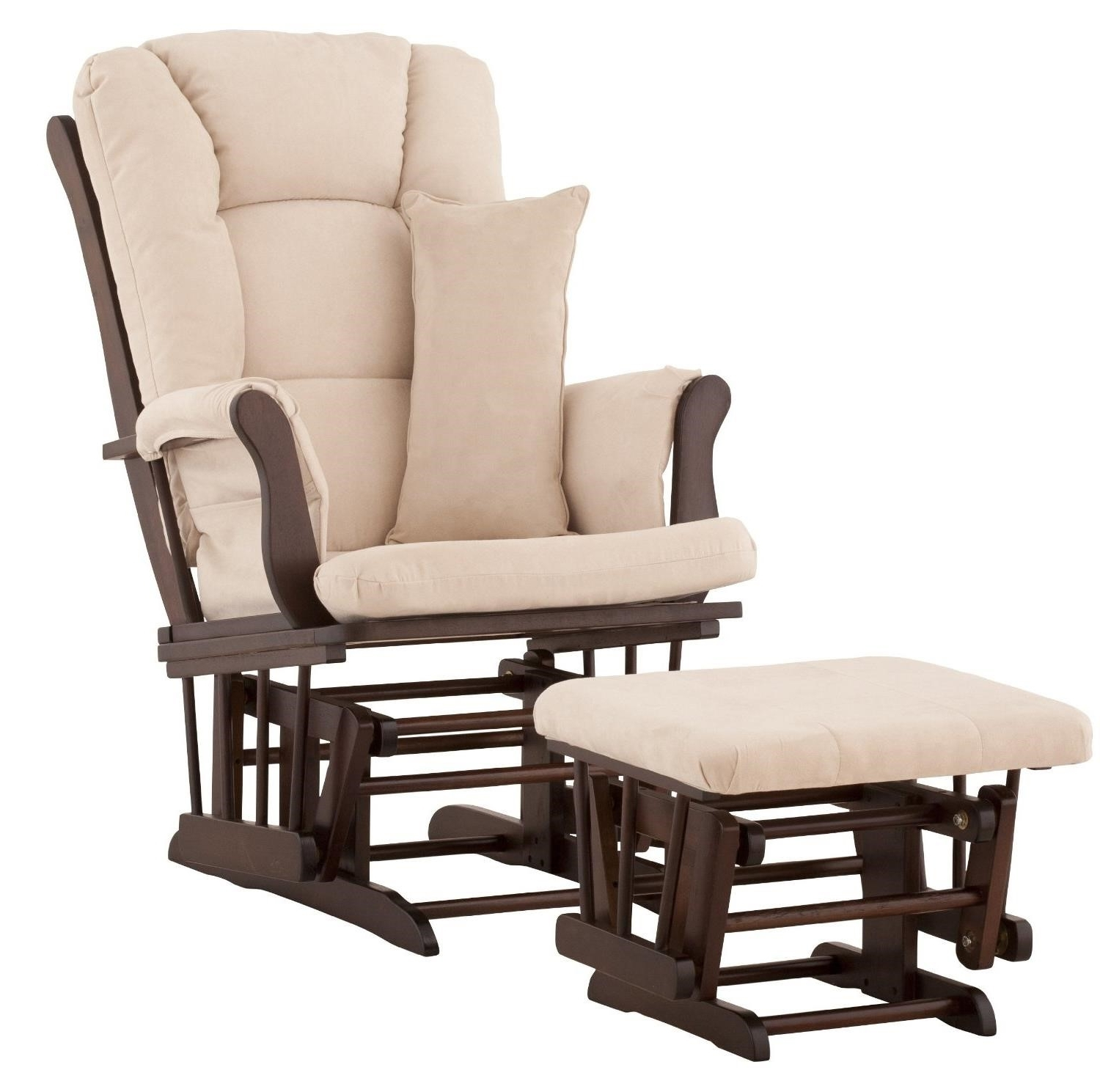 Bedroom: Decorate Nursery Room Ideas With Glider Rocking Chair And Inside Favorite Rocking Chairs With Footstool (View 18 of 20)