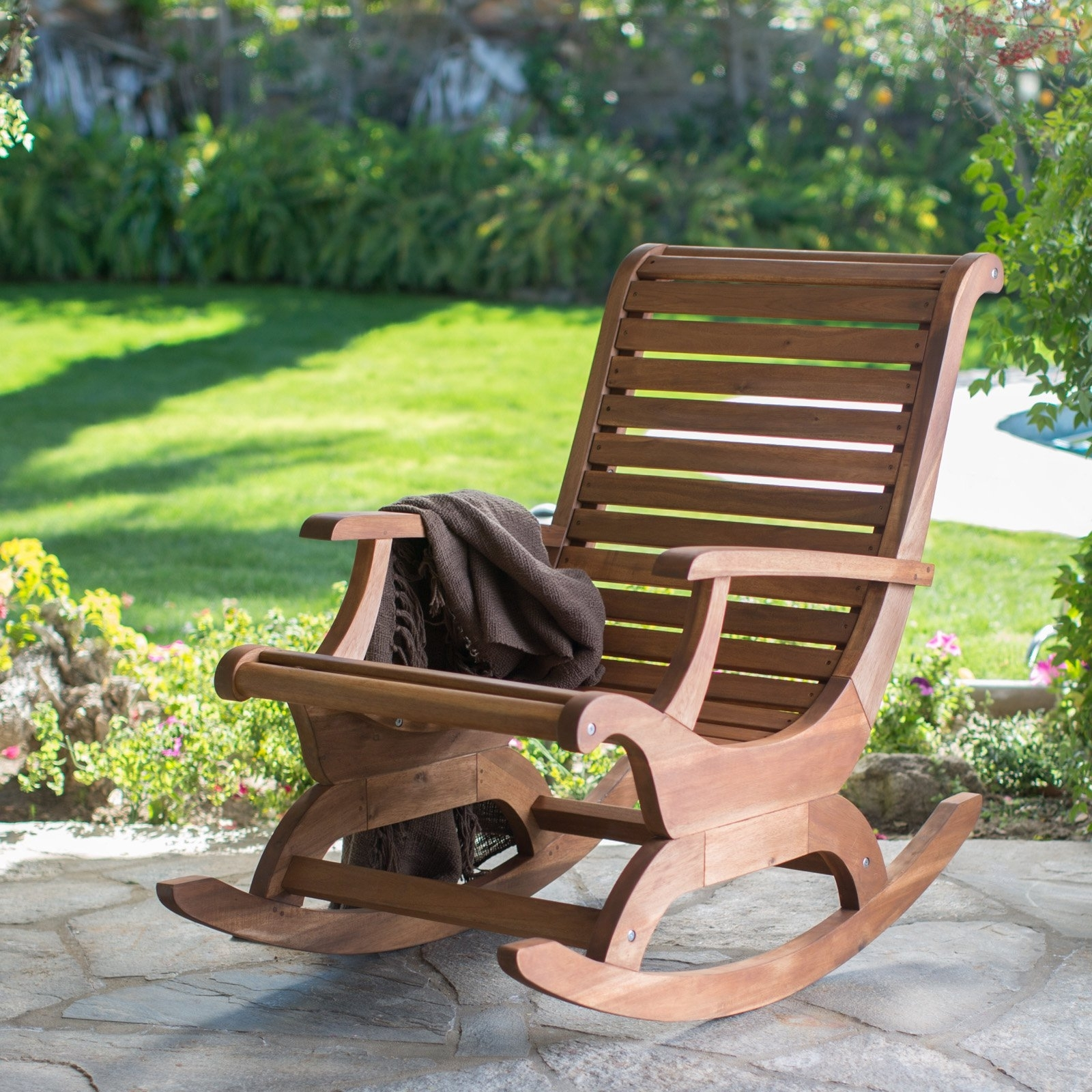 Belham Living Avondale Oversized Outdoor Rocking Chair – Natural With Regard To Well Liked Oversized Patio Rocking Chairs (View 3 of 20)