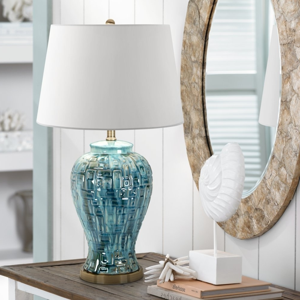 Best And Newest Blue Living Room Table Lamps Inside Lamp : White Ceramic Table Lamps For Living Room Made In Usa Ebay (View 8 of 20)