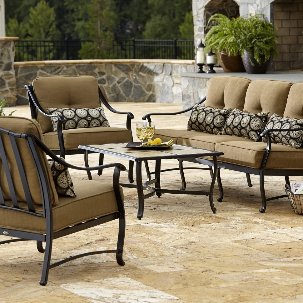 Best And Newest Lazy Boy Patio Conversation Sets With Regard To Patio : La Z Boy Outdoor Aubree Pc Seating Set Limited Availability (View 18 of 20)