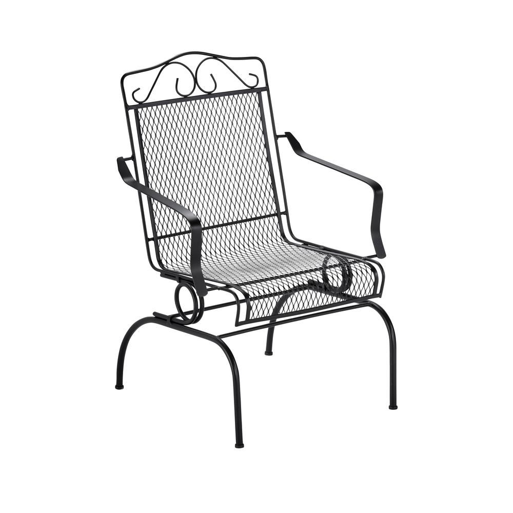 Best And Newest Outdoor Patio Metal Rocking Chairs In Nantucket Rocking Metal Outdoor Dining Chair 6991700 0805157 – The (View 17 of 20)