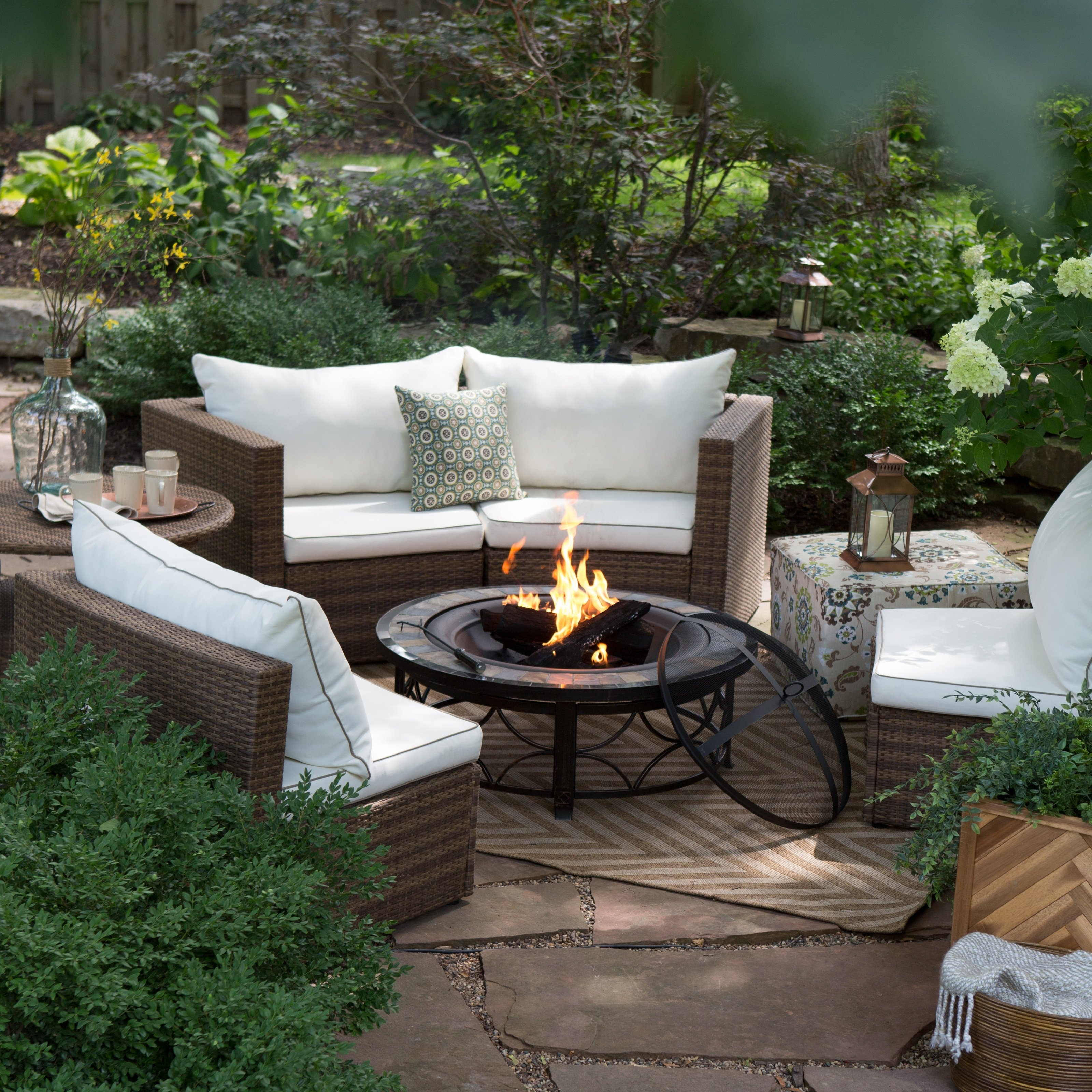 Best And Newest Patio Conversation Sets With Propane Fire Pit Regarding Decoration : Fire Pit Chairs Fire Pit Set Outdoor Propane Fire Pit (View 15 of 20)