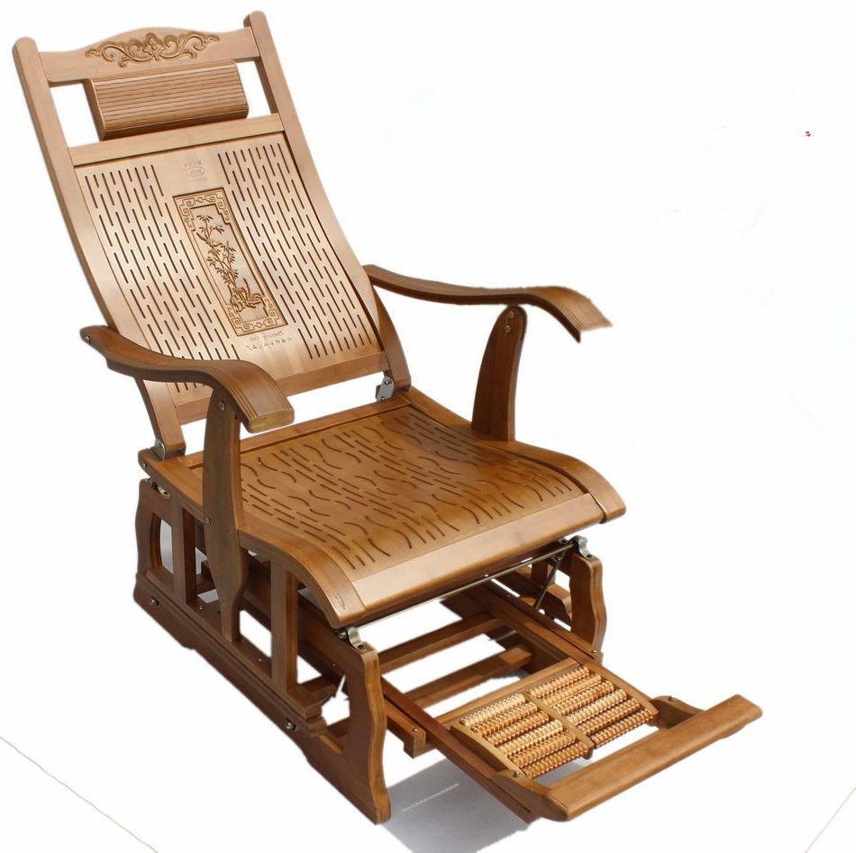 Best And Newest Patio Rocking Chairs And Gliders In Modern Bamboo Rocking Chair Adult Glider Rocker Natural Bamboo (View 8 of 20)